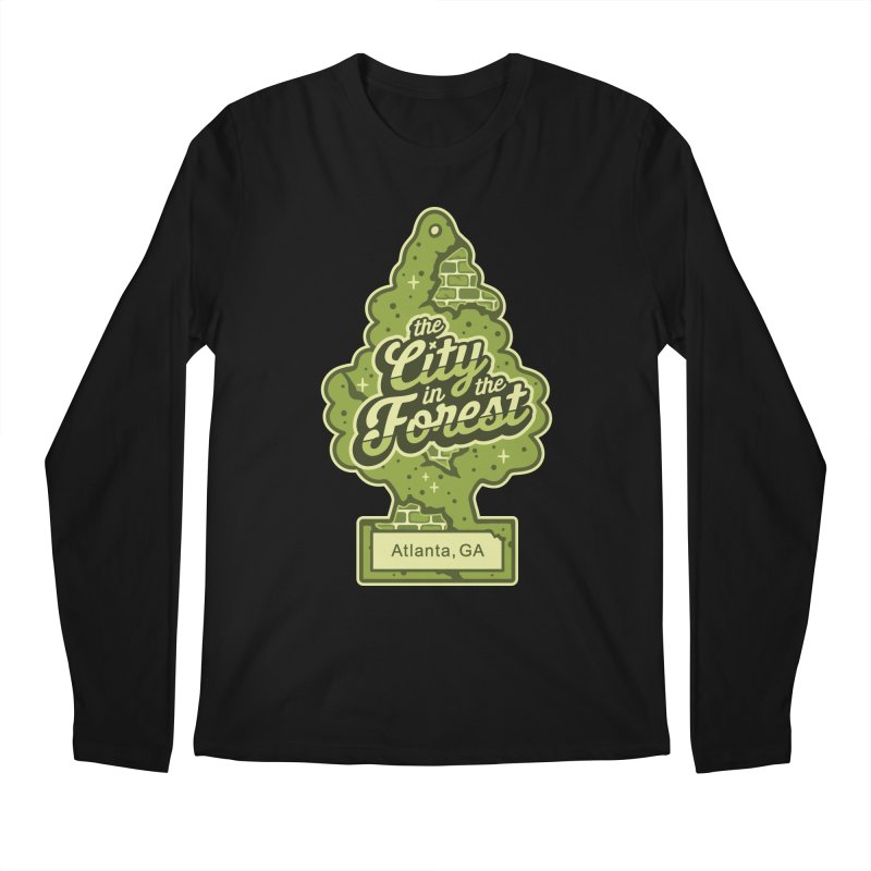 Atlanta - The City in the Forest Men's Longsleeve T-Shirt by MattAlbert84's Apparel Shop