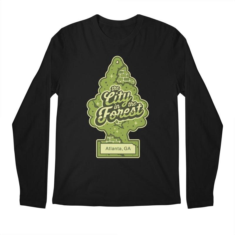 Atlanta - The City in the Forest Men's Regular Longsleeve T-Shirt by MattAlbert84's Apparel Shop