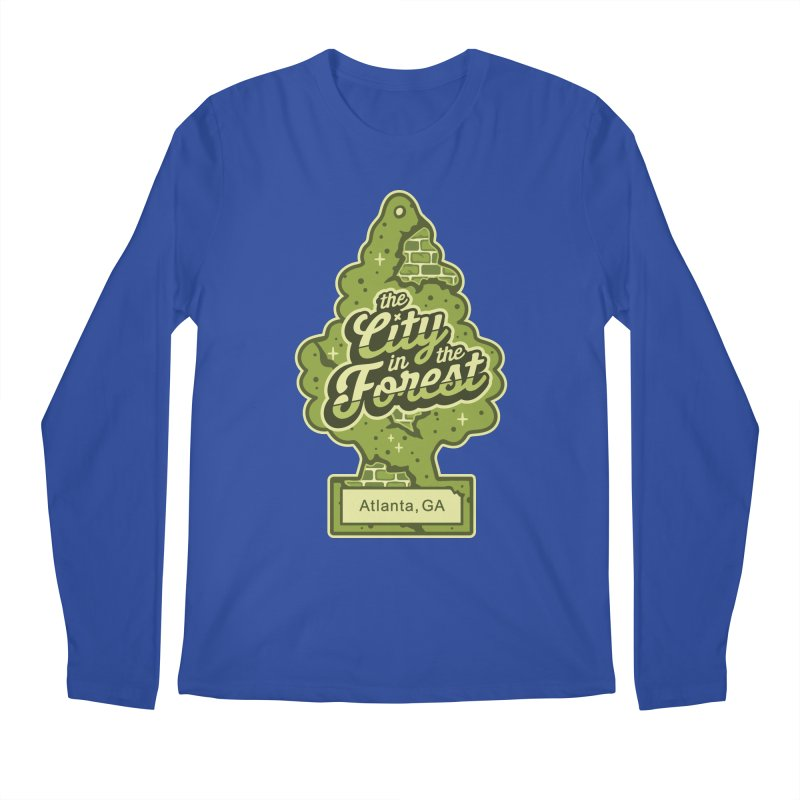 Atlanta - The City in the Forest Men's Regular Longsleeve T-Shirt by MattAlbert84's Apparel Shop