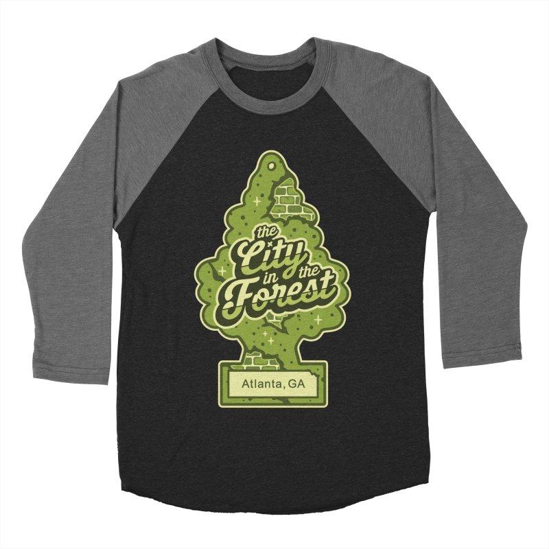 Atlanta - The City in the Forest Women's Baseball Triblend Longsleeve T-Shirt by MattAlbert84's Apparel Shop