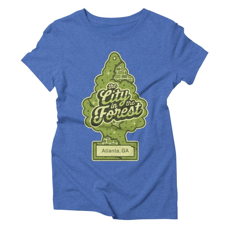 Atlanta - The City in the Forest Women's Triblend T-Shirt by MattAlbert84's Apparel Shop