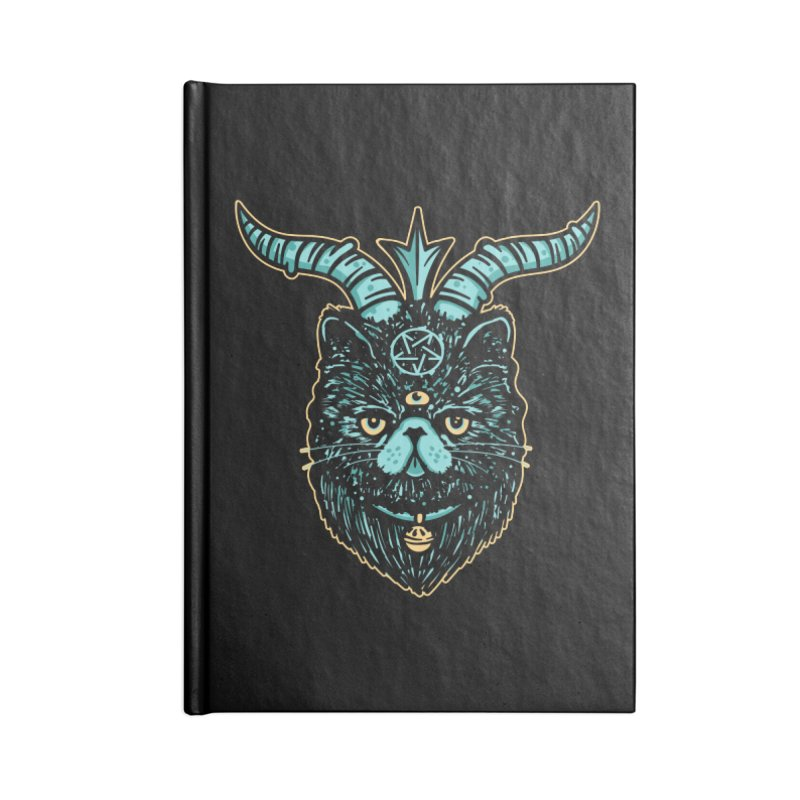 Catphomet Accessories Lined Journal Notebook by MattAlbert84's Apparel Shop
