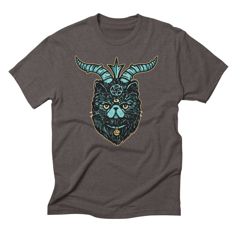 All Hail Catphomet Men's Triblend T-Shirt by MattAlbert84's Apparel Shop