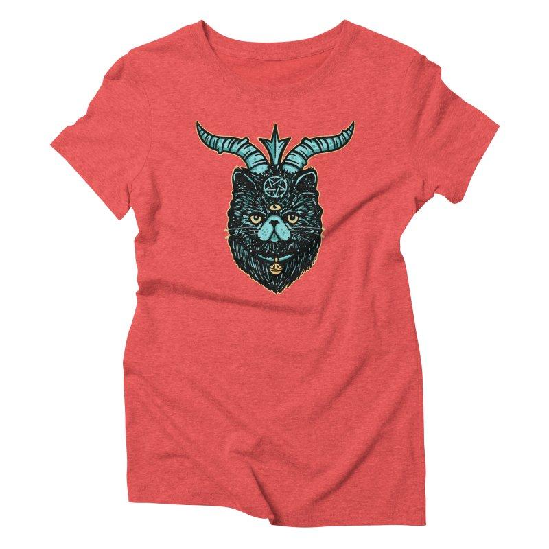 Catphomet Women's Triblend T-Shirt by MattAlbert84's Apparel Shop