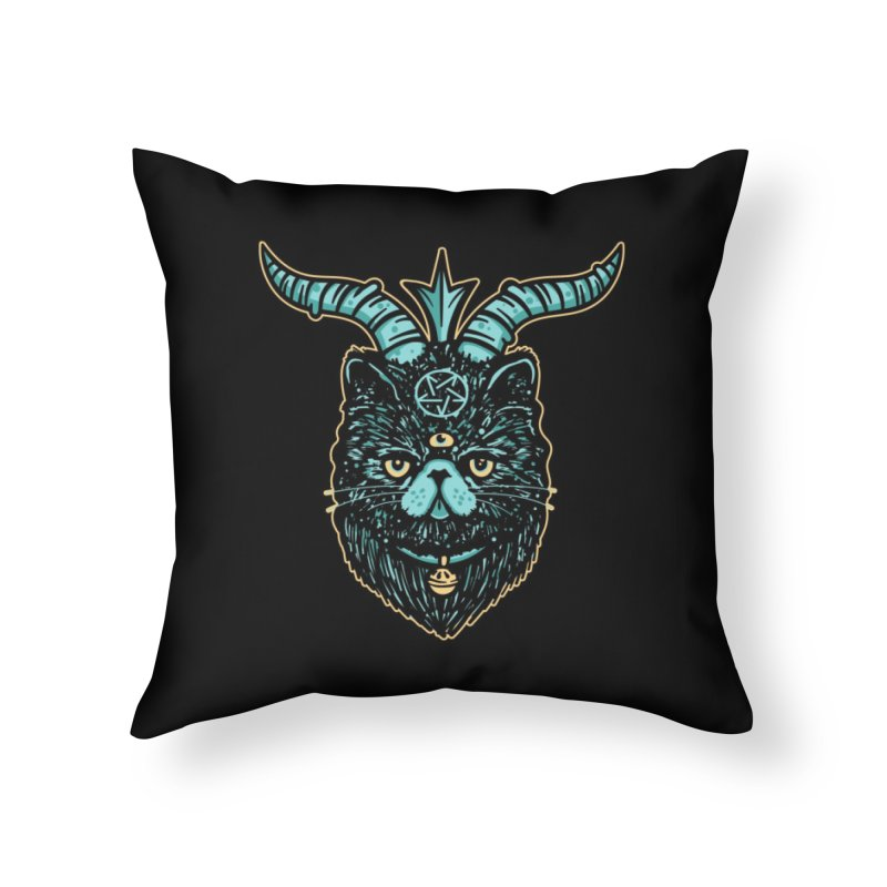 All Hail Catphomet Home Throw Pillow by MattAlbert84's Apparel Shop