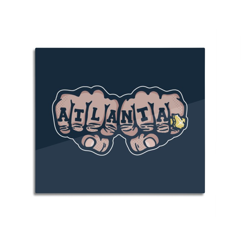 Knuckle Up Home Mounted Aluminum Print by MattAlbert84's Apparel Shop