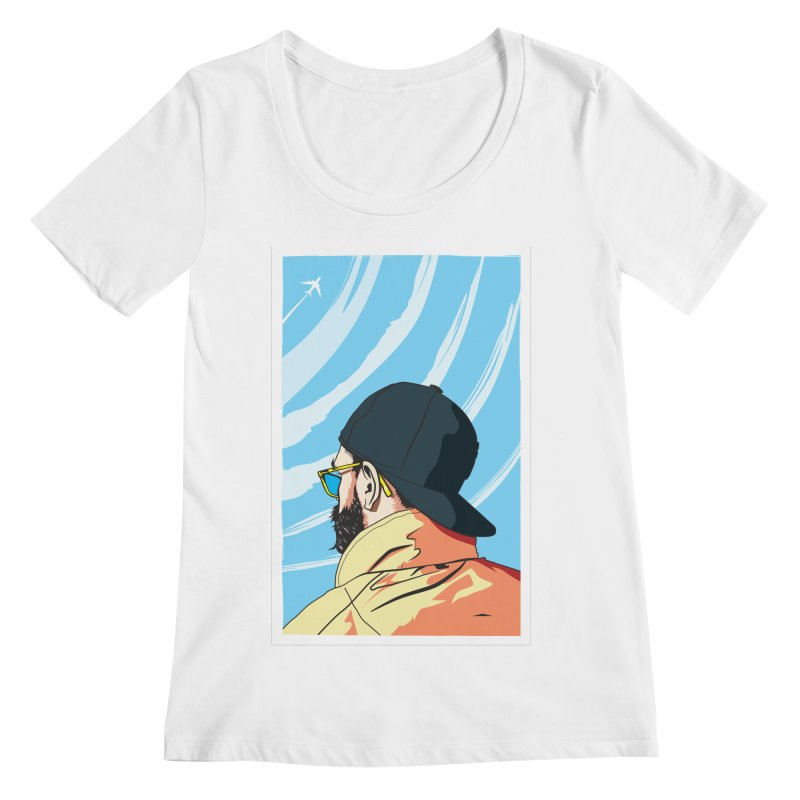 Look to the Sky Women's Scoopneck by Matt Fontaine Illustration