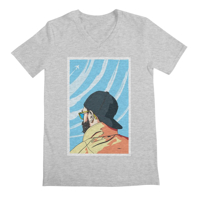 Look to the Sky Men's V-Neck by Matt Fontaine Illustration