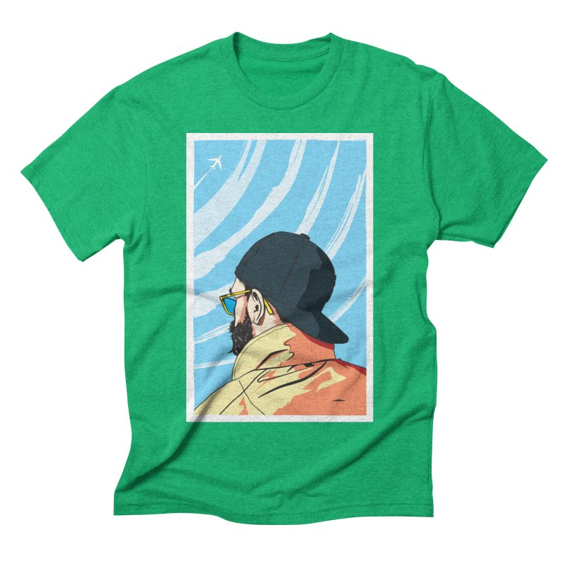 Look to the Sky Men's Triblend T-shirt by Matt Fontaine Illustration