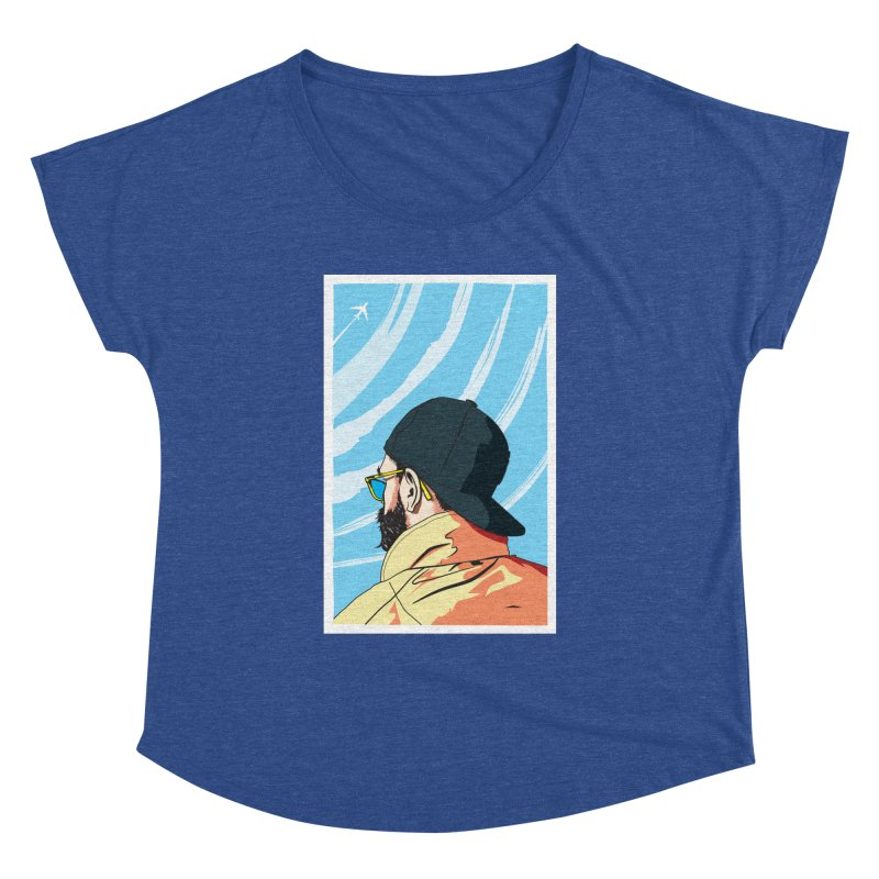 Look to the Sky Women's Dolman by Matt Fontaine Illustration
