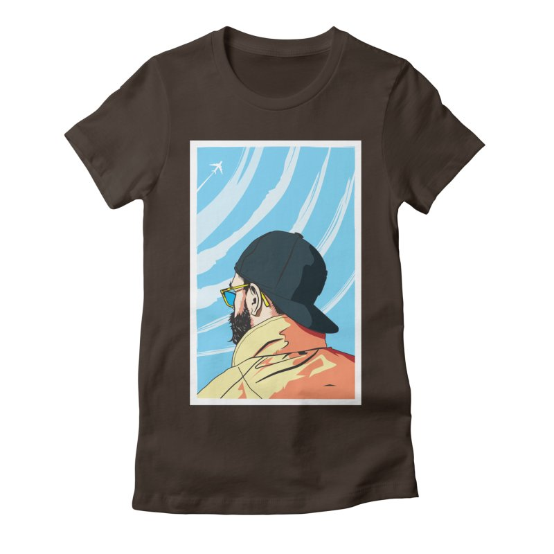 Look to the Sky Women's Fitted T-Shirt by Matt Fontaine Illustration