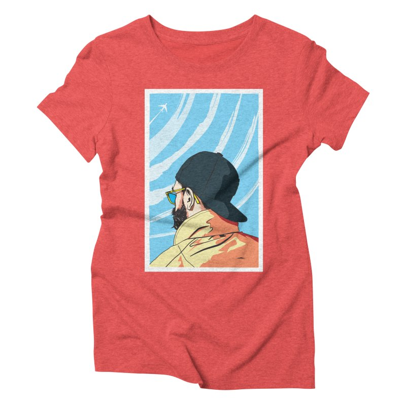 Look to the Sky Women's Triblend T-shirt by Matt Fontaine Illustration