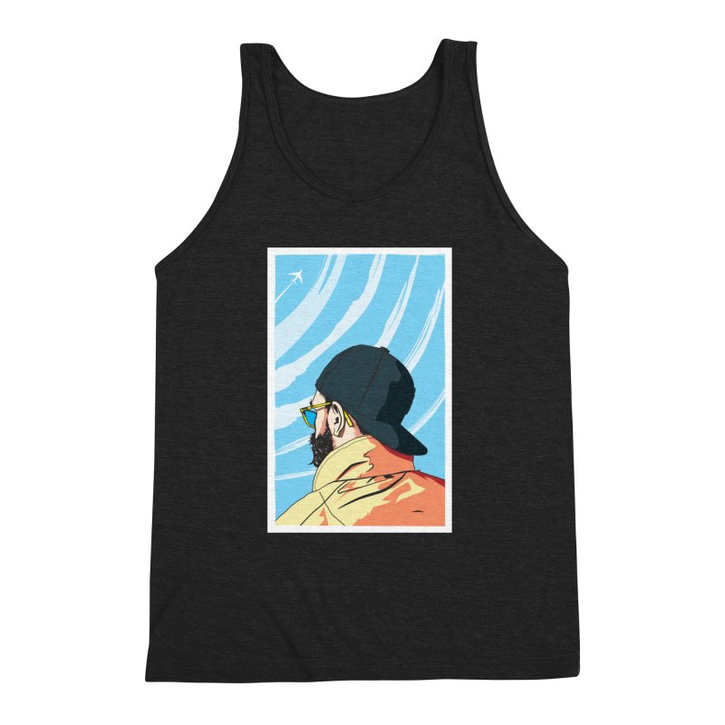 Look to the Sky Men's Triblend Tank by Matt Fontaine Illustration