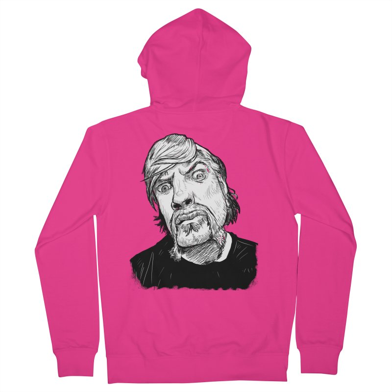 What you looking at?! Men's Zip-Up Hoody by Matt Fontaine Illustration