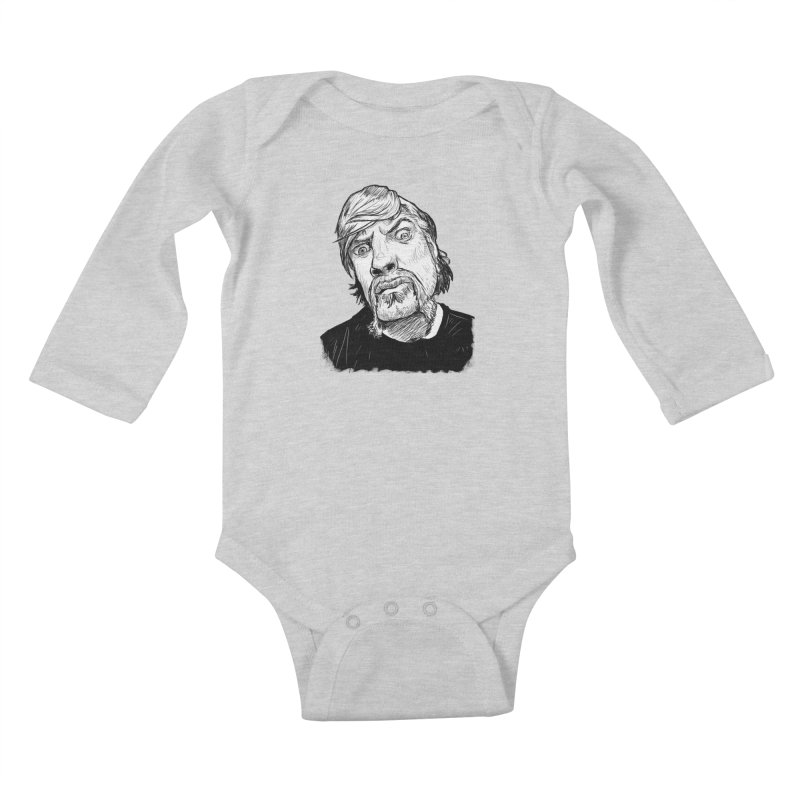 What you looking at?! Kids Baby Longsleeve Bodysuit by Matt Fontaine Illustration
