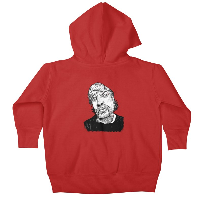 What you looking at?! Kids Baby Zip-Up Hoody by Matt Fontaine Illustration