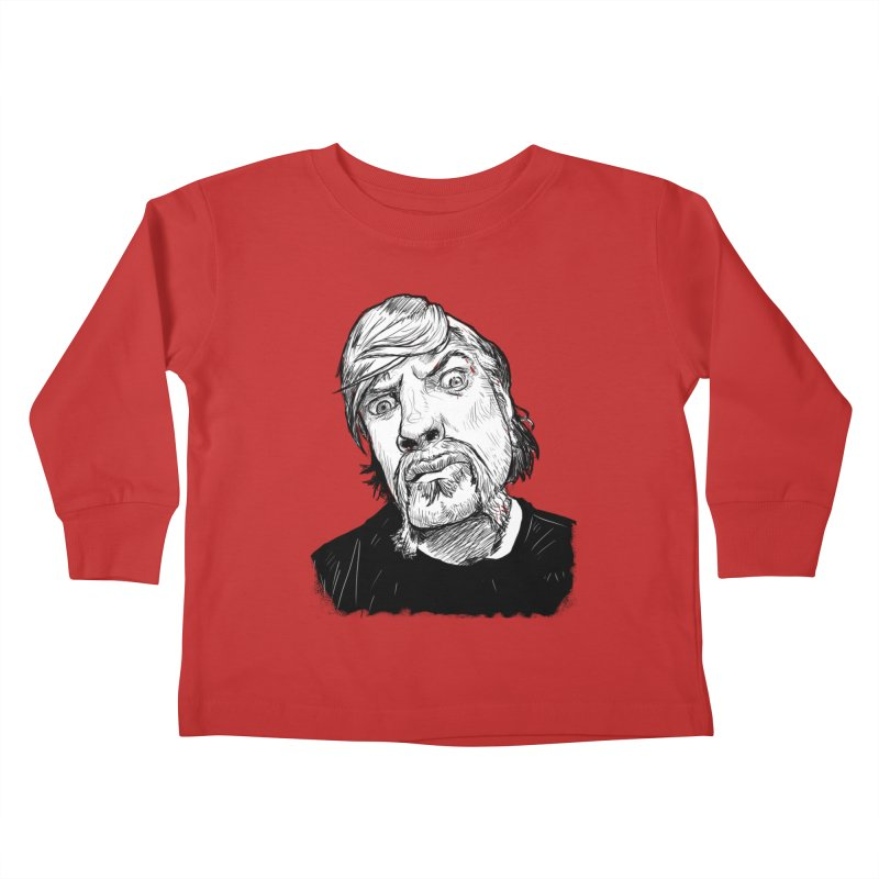 What you looking at?! Kids Toddler Longsleeve T-Shirt by Matt Fontaine Illustration