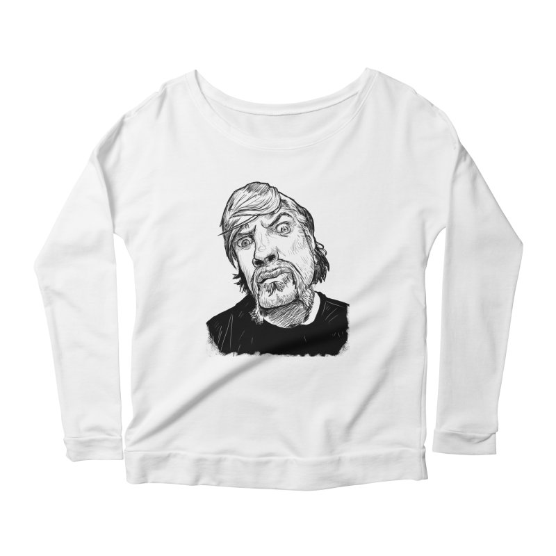 What you looking at?! Women's Longsleeve Scoopneck  by Matt Fontaine Illustration