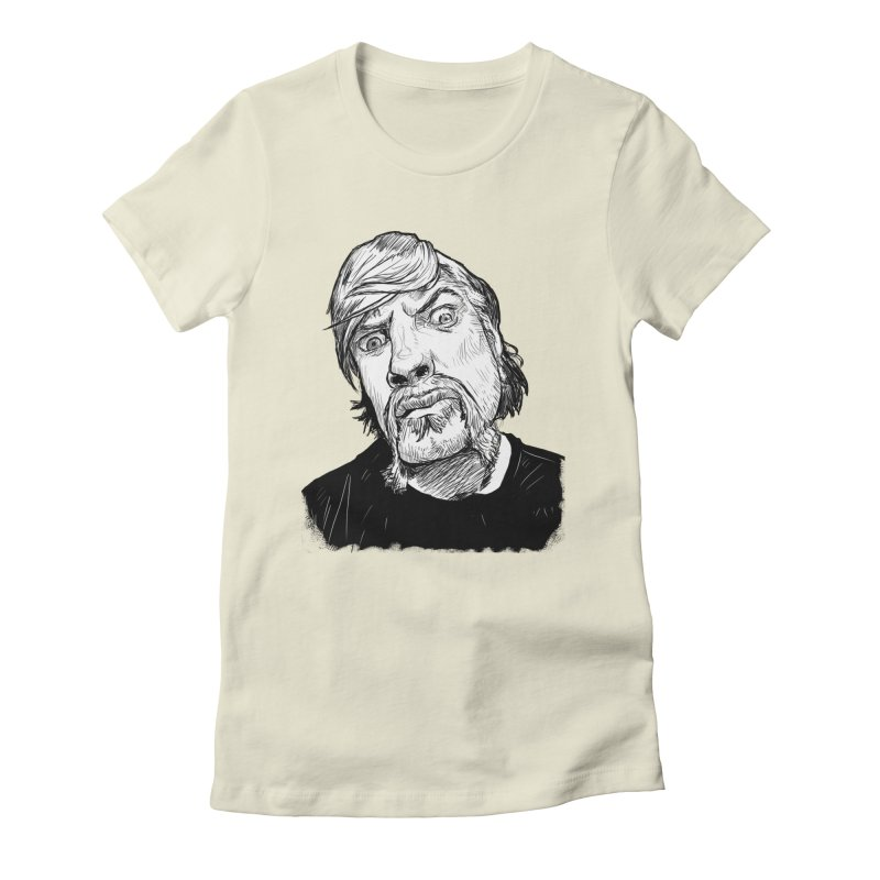 What you looking at?! Women's Fitted T-Shirt by Matt Fontaine Illustration