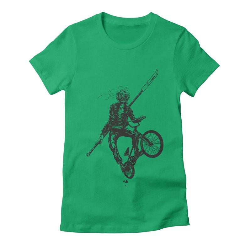 BMX Women's Fitted T-Shirt by Matt Griffin Apparel