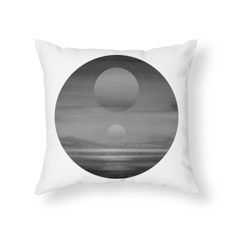 Other Seas / Other Suns (BW) I in Throw Pillow by Matt Griffin Apparel