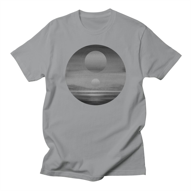Other Seas / Other Suns (BW) I in Men's Regular T-Shirt Slate by Matt Griffin Apparel