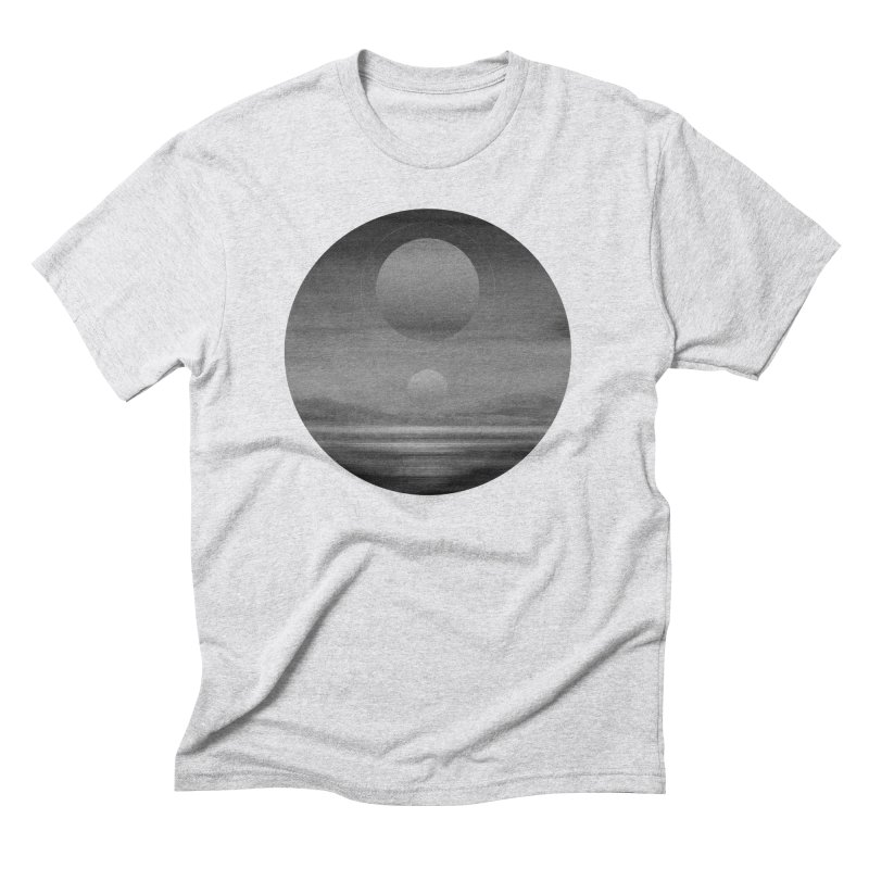 Other Seas / Other Suns (BW) I Men's Triblend T-Shirt by Matt Griffin Apparel