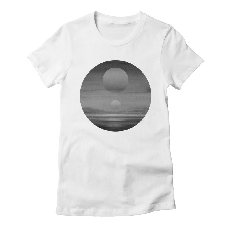 Other Seas / Other Suns (BW) I Women's Fitted T-Shirt by Matt Griffin Apparel