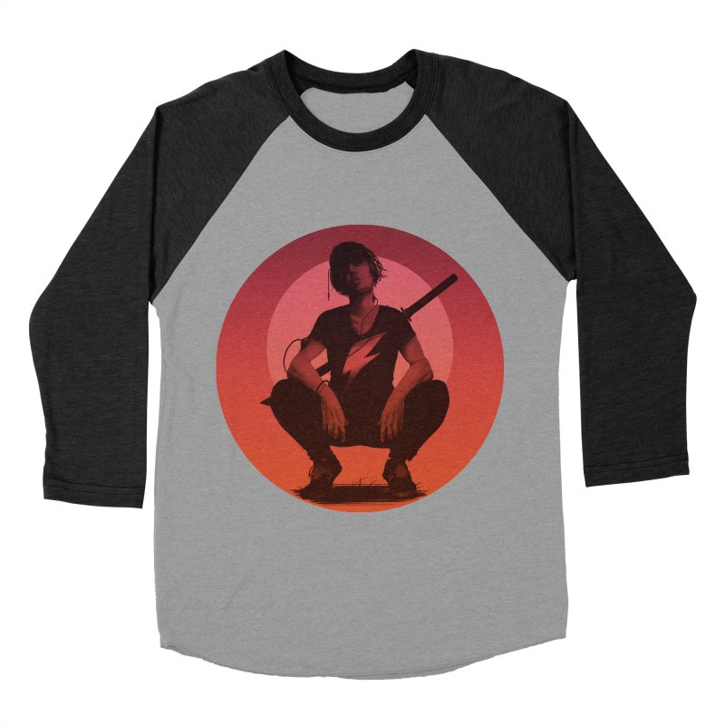 The Endling III (Colour II) in Men's Baseball Triblend Longsleeve T-Shirt Heather Onyx Sleeves by Matt Griffin Apparel