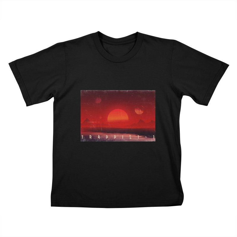 Trappist-1 Kids T-Shirt by Matt Griffin Apparel