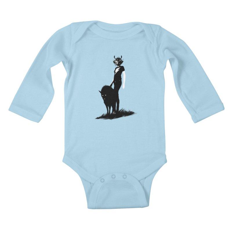 The Endling  Kids Baby Longsleeve Bodysuit by Matt Griffin Apparel