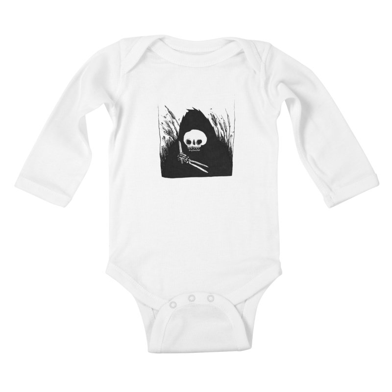 waiting for you Kids Baby Longsleeve Bodysuit by matthewkocanda's Artist Shop