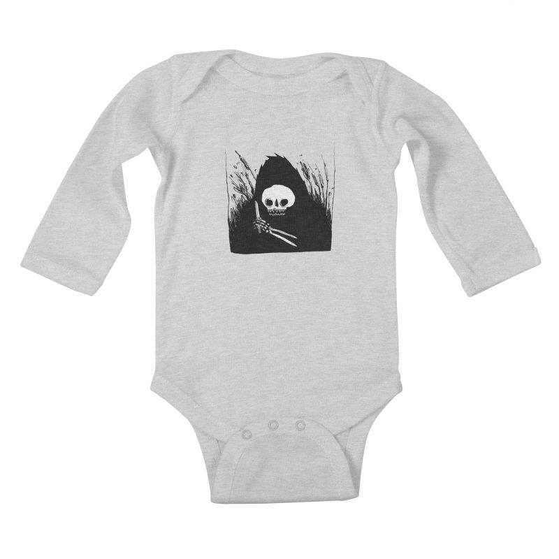 waiting for you Kids Baby Longsleeve Bodysuit by matthewkocanda's Artist Shop