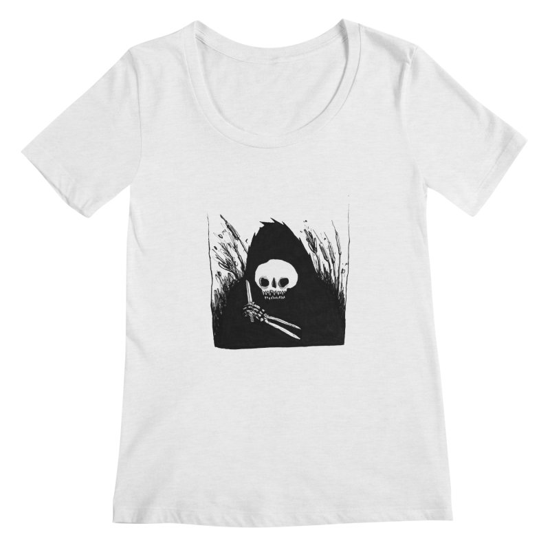 waiting for you Women's Scoopneck by matthewkocanda's Artist Shop