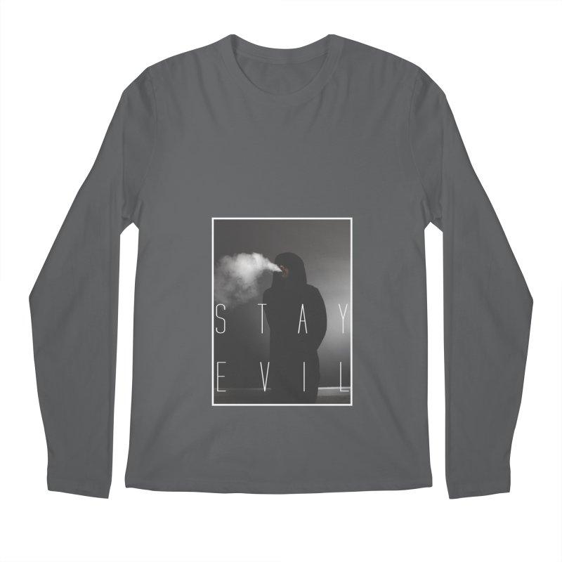 stay evil Men's Regular Longsleeve T-Shirt by matthewkocanda's Artist Shop