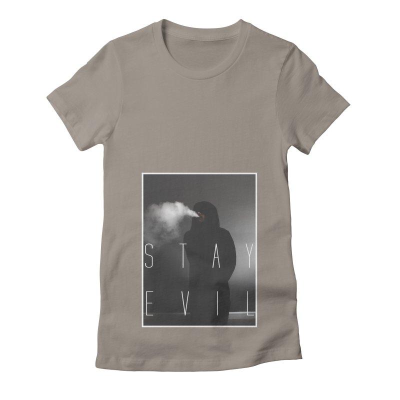 stay evil Women's Fitted T-Shirt by matthewkocanda's Artist Shop