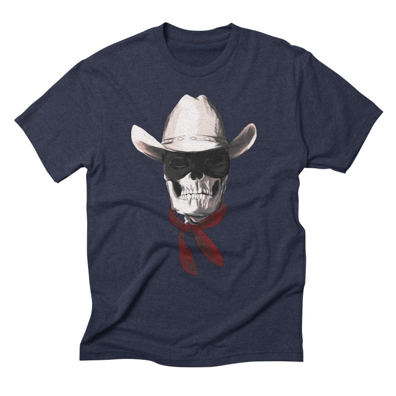 The Bone Ranger in Men's Triblend T-Shirt Navy by Matthew, Mark, Luke, & John's Artist Shop