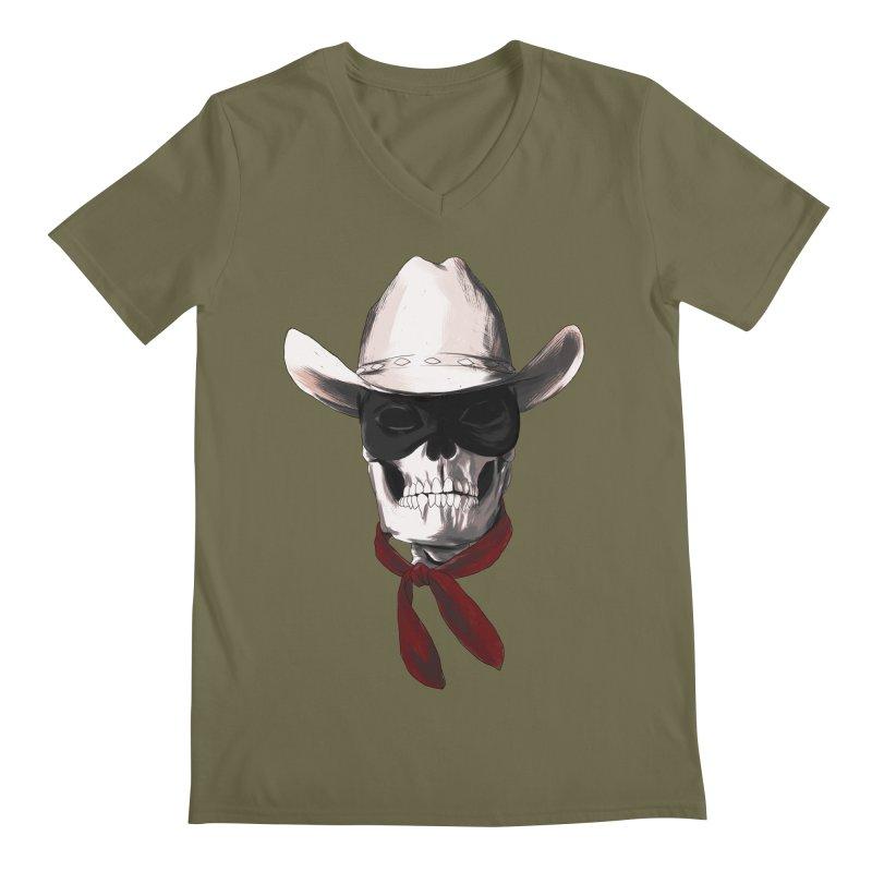 The Bone Ranger Men's V-Neck by Matthew, Mark, Luke, & John's Artist Shop