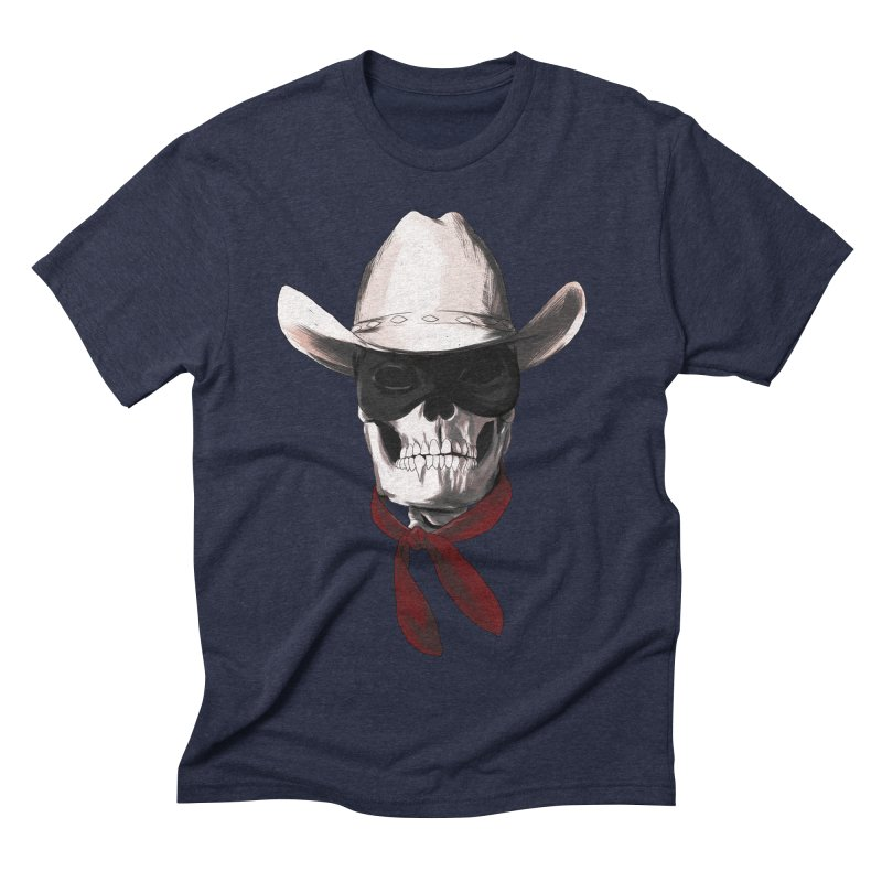 The Bone Ranger Men's Triblend T-shirt by Matthew, Mark, Luke, & John's Artist Shop