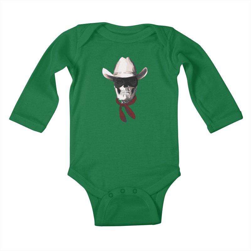 The Bone Ranger Kids Baby Longsleeve Bodysuit by Matthew, Mark, Luke, & John's Artist Shop