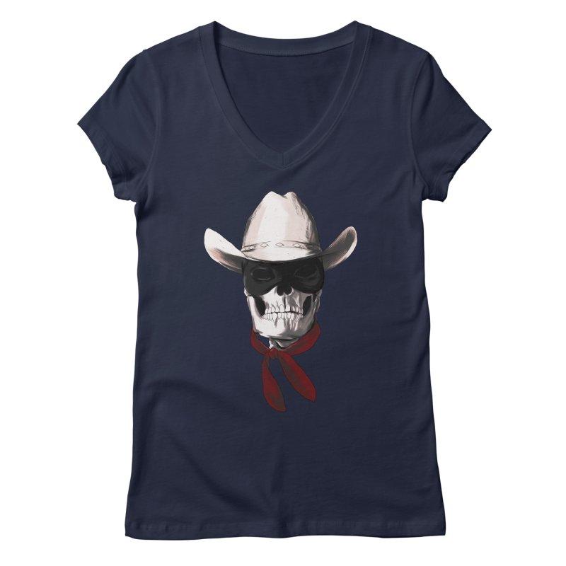 The Bone Ranger Women's V-Neck by Matthew, Mark, Luke, & John's Artist Shop
