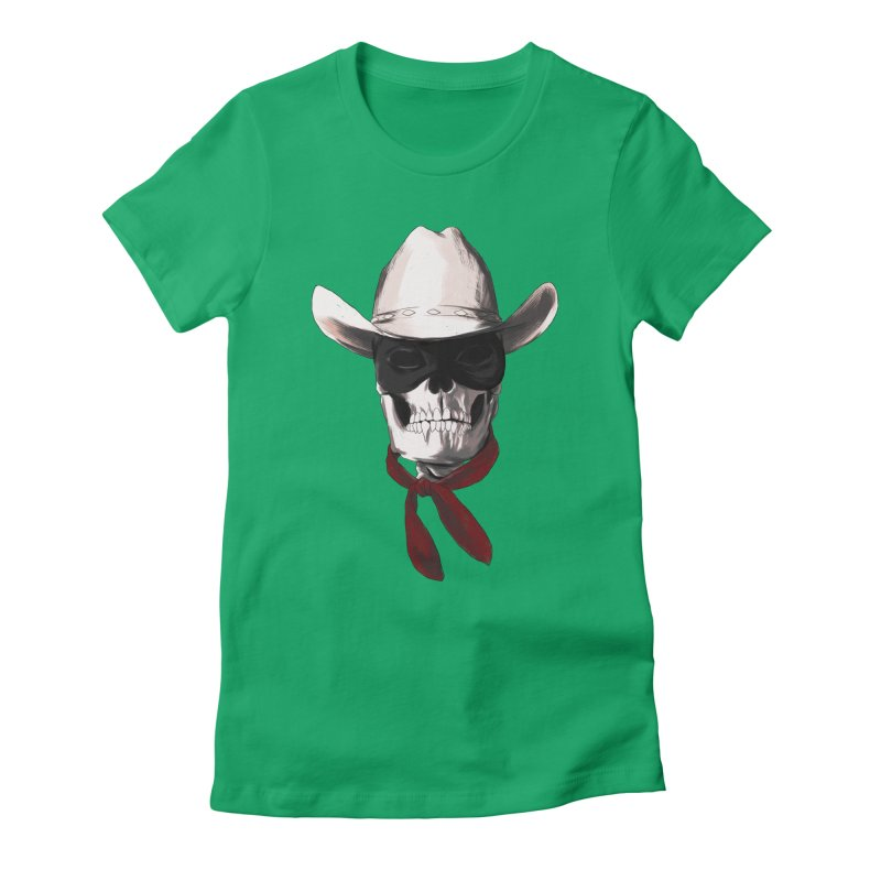 The Bone Ranger Women's Fitted T-Shirt by Matthew, Mark, Luke, & John's Artist Shop