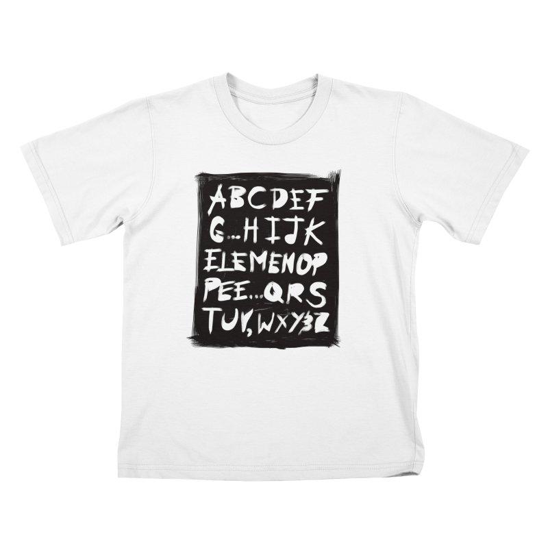 Alfabet Kids T-Shirt by Matthew, Mark, Luke, & John's Artist Shop