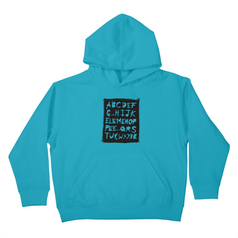 Alfabet Kids Pullover Hoody by Matthew, Mark, Luke, & John's Artist Shop