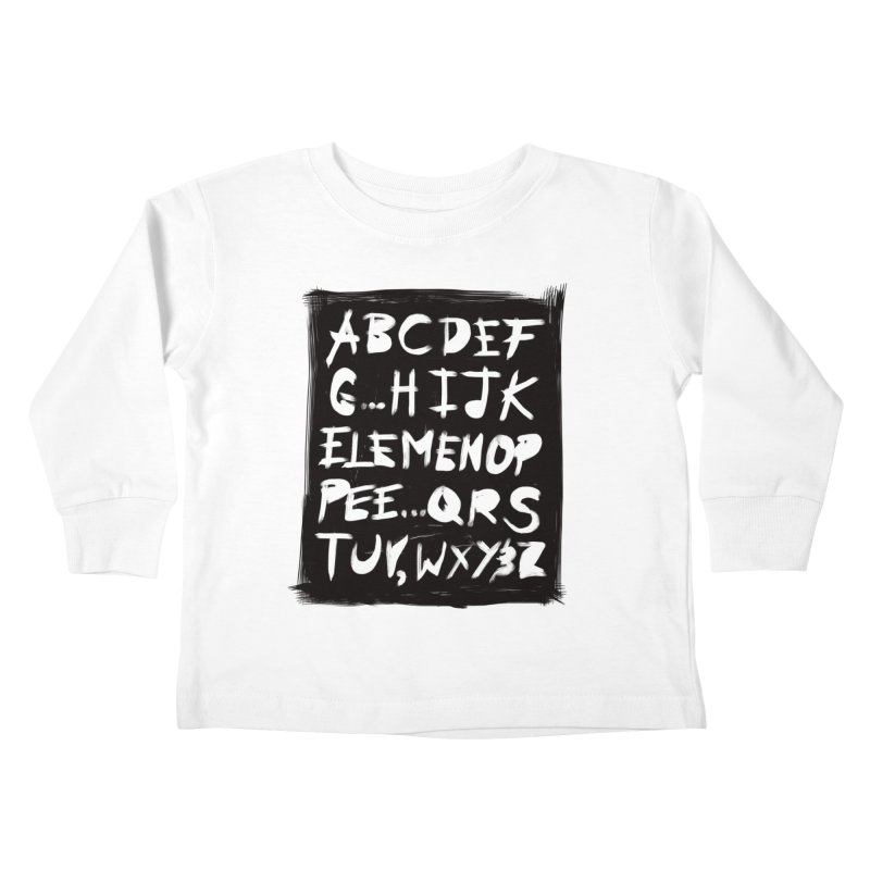 Alfabet Kids Toddler Longsleeve T-Shirt by Matthew, Mark, Luke, & John's Artist Shop