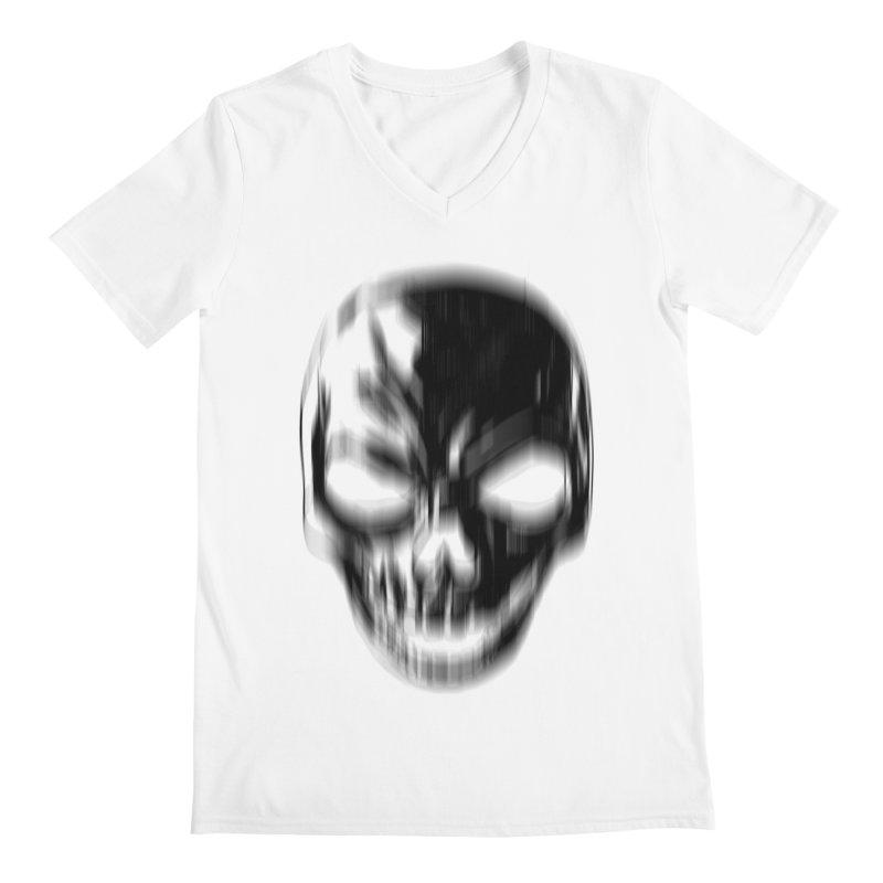 Blurred Skullines Men's V-Neck by Matthew, Mark, Luke, & John's Artist Shop