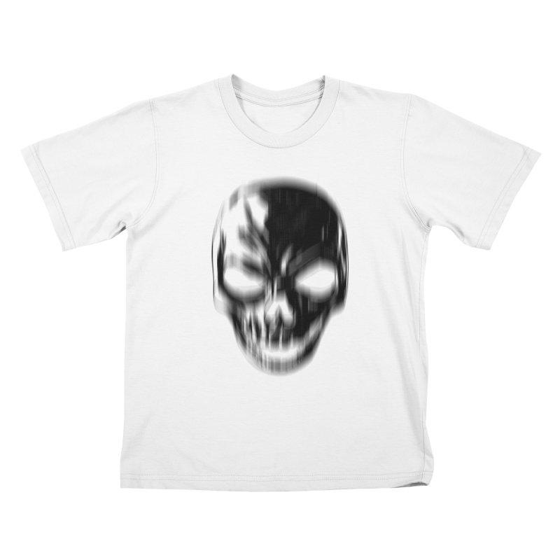 Blurred Skullines Kids T-Shirt by Matthew, Mark, Luke, & John's Artist Shop