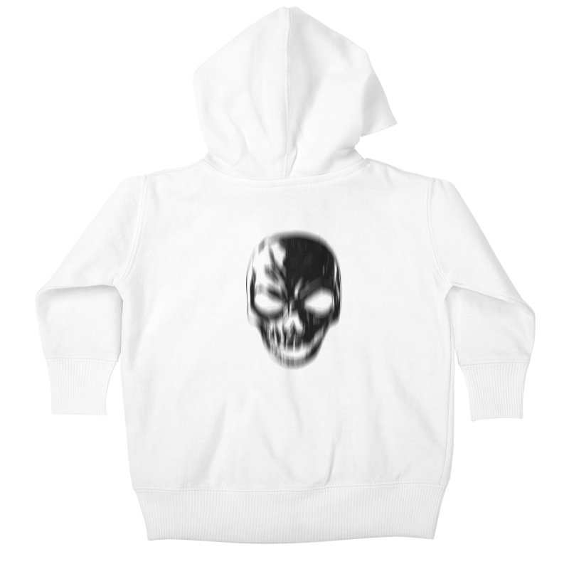 Blurred Skullines Kids Baby Zip-Up Hoody by Matthew, Mark, Luke, & John's Artist Shop