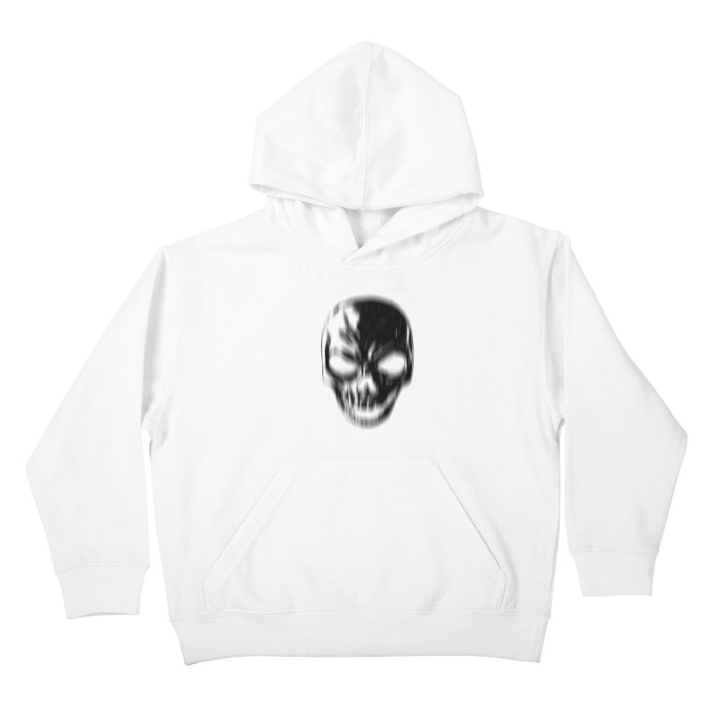 Blurred Skullines Kids Pullover Hoody by Matthew, Mark, Luke, & John's Artist Shop
