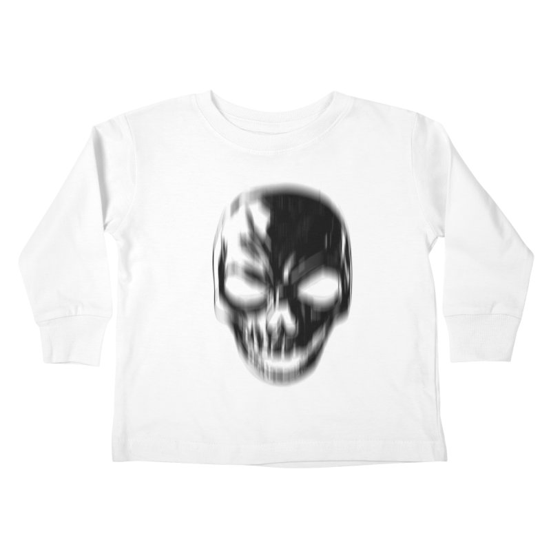 Blurred Skullines Kids Toddler Longsleeve T-Shirt by Matthew, Mark, Luke, & John's Artist Shop